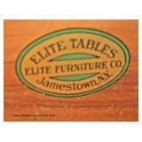 "PAIR of ""Elite Furniture Company"" Mahogany One Drawer Drop Side Pembroke Tables – auction estimate $"