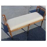 Carved Upholstered End of the Bed Bench – auction estimate $100-$200