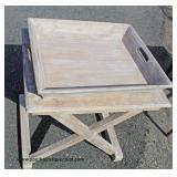 Reclaim Wood Style Serving Tray Top Table – auction estimate $100-$200