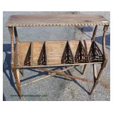Antique Style Rustic Style Magazine Stand – auction estimate $100-$200