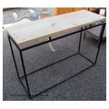 Industrial Style One Tier Console Table – auction estimate $100-$200