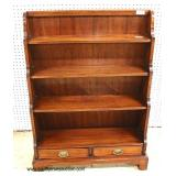 "SOLID Mahogany ""Southampton Furniture"" Open Front Bookcase with 2 Drawers – auction estimate $100-$2"