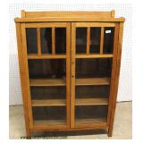 .ANTIQUE Mission Oak Style 2 Door Bookcase – auction estimate $300-$600