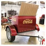 COOL Custom Made Coca Cola Trailer with VINTAGE Grager SS Chrome Rims,  Aluminum Diamond Plate, Mad