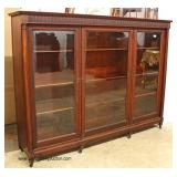 ANTIQUE SOLID Mahogany 3 Door Bookcase in Original Finish – auction estimate $400-$800