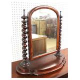 ANTIQUE Mahogany Shaving Mirror – auction estimate $50-$100