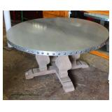 "Antique Style Industrial Zinc Top 60"" Dining Room Table – auction estimate $300-$600"