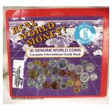 Real World Money 30 Genuine World Coins with Complete Informational Guide Book – auction estimate $5