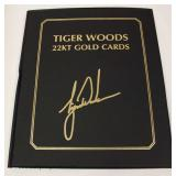 Tiger Wood 22 Karat Gold Cards (4) Book – auction estimate $20-$50