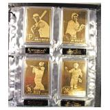 """The Danbury Mint"" 22 Karat Gold Baseball Cards Book with 50 Baseball Cards Included – auction esti"