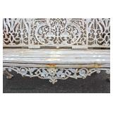 Selection of Outdoor Yard Items including Cast Iron Benches, Cast Iron Fountain, Planters and much
