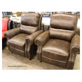 PAIR of NEW Leather Recliners – auction estimate $300-$600