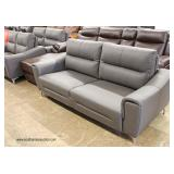 NEW Leather Modern Design Sofa in the Slate Grey Finish – auction estimate $300-$600  NEW Leather M