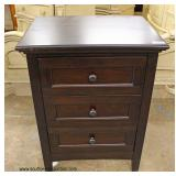 NEW 3 Drawer Mahogany Night Stand – auction estimate $50-$100