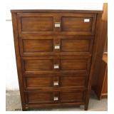 NEW Contemporary Mahogany Finish High Chest – auction estimate $100-$300