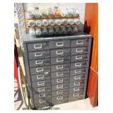 Multi Drawer Metal Cabinet filled with Bolts, Screws, Tools and more – auction estimate $100-$300