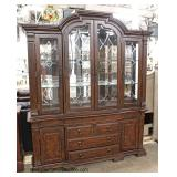 """Broyhill Furniture"" Contemporary 9 Piece Dining Room Set in the Mahogany – auction estimate $400-$8"