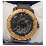 """Movado Bold"" Black Leather Band Watch – auction estimate $100-$300"