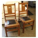 Set of 5 Mission Oak Dining Room Chairs – auction estimate $100-$200