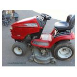 "24 HP Craftsman Riding Lawn Mower with 48"" Cut with New Battery – auction estimate $300-$600"