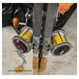 Selection of VINTAGE Fishing Rods and Reels – auction estimate $20-$200