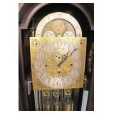 "BEAUTIFUL RARE 12 Tube ""Herschede"" Mahogany Tall Case Grandfather Clock  in Running Condition, Orig"