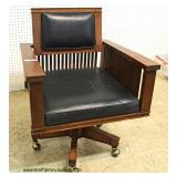 """Frank Lloyd Wright"" Design/Style Mission Oak Office Chair – auction estimate $400-$800"
