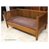 """Stickley Furniture"" Mission Oak Even Arm Settee – auction estimate $800-$1500"
