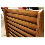 VERY NICE ANTIQUE Quartersawn Oak Magazine Display Rack – auction estimate $400-$800