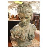 Large Bronze Bust of Woman – auction estimate $1000-$3000