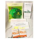 (2) 2019 Golf Masters Tournament Admittance Tickets for Thursday, April 11th – auction estimate $100