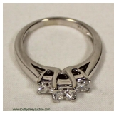 14 Karat White Gold 3 Princess Cut 1 CTW Diamond Ring – auction estimate $1000-$2000