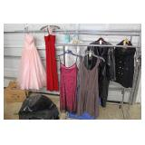Selection of Designer Dresses and Jackets some VINTAGE Located Inside – A...
