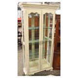 Contemporary White 2 Door Display Cabinet