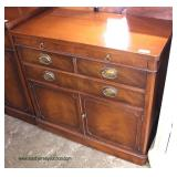 One of Several 2 Drawer 2 Door Mahogany Servers
