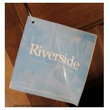 "NEW Contemporary Mahogany Finish ""Riverside"" Slant Desk Bookshelf"