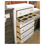 Selection of NEW Contemporary Decorator High Chest & NEW 5 Drawer Barn Wood Style Contemporary High