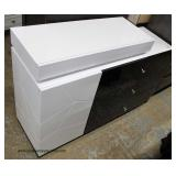 NEW Cool Modern Design Black and White Lacquer Style Chest