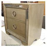 "NEW Contemporary ""Pulaski Furniture"" 2 Drawer Decorator Night Stand with Mirror Accents"