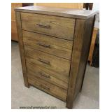 NEW Contemporary Barn Wood Style 5 Drawer High Chest