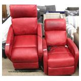 Red Leather Style Lift Chairs – maybe offered separately
