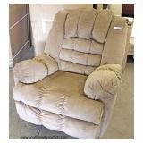 Upholstered Tan Recliner