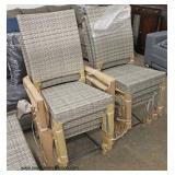 NEW 14 Piece Resin Wicker Style Patio Conversation Set with Self Storage for Cushions includes,  2