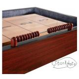 hallenger Shuffleboard Table with Storage Cabinets  — Still in the Box —