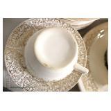 "51 Piece ""Chantilly"" 22 Karat Sebring Pottery Company Dinnerware Set"