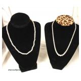 Selection of Marked 14 Karat Gold Clasp Pearl Necklaces  Auction Estimate $200-$500 – Located Insid