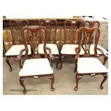 "9 Piece ""American Drew Furniture"" SOLID Cherry Queen Anne Dining Room Set with 2 Leaves  Auction Es"
