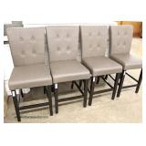 "Set of 4 NEW ""Best Quality Furniture"" Upholstered Button Tufted Kitchen Chairs  Auction Estimate $2"