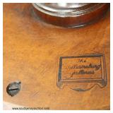 "SOLID Mahogany ""The Williamsburg Galleries"" Deep Dish Table  Auction Estimate $100-$300 – Located I"