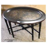 "Decorator ""Ethan Allen Furniture"" Oval Serving Table  Auction Estimate $100-$200 – Located Inside"